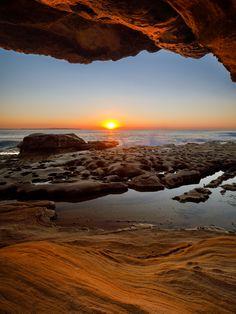 Sunrise at Cronulla Beach Rocks - Australia Beach, Beach Rocks, Tropical Paradise, Old Houses, Sunrise, Around The Worlds, Ocean, Island, Adventure