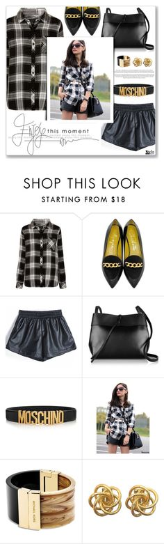 """""""sheinside shorts"""" by gogadirectioner ❤ liked on Polyvore featuring Rails, Charlotte Olympia, Kara, Moschino, Michael Kors, women's clothing, women, female, woman and misses"""