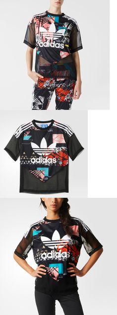 Shirts 59333: 2016Adidas Originals Womens Sheer Mixed Floral Soccer T-Shirt Aj8523 Chiffon Top -> BUY IT NOW ONLY: $59.99 on eBay!