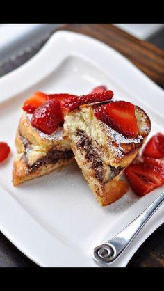 Yum, Nutella stuffed French Toast