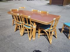 1950u0027s Vintage Rattan Furniture 8 Chairs Drop By Mollysimons1, $650.00
