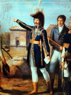 Joachim Murat, Marshal of France and King of Naples Ordering the Capture of Capri in 1808 (detail) by Johann Heinrich Schmidt