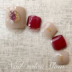 Pretty Toe Nails, Cute Toe Nails, Pretty Nail Art, Toe Nail Art, Feet Nail Design, Toe Nail Designs, Japanese Nail Design, Japanese Nails, Fingernails Painted
