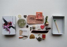 love matchbox treasure by artinredwagons on Etsy