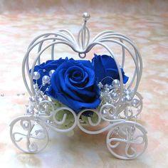 【楽天市場】【送料無料】青いバラ・プリザーブドフラワー・シンデレラブルーローズ・青いバラ・かぼちゃの馬車・クリスマス:プリフラワー