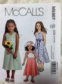 McCall's Fashion for Children Girls summer dresses by Vntgfindz