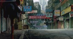 """""""Ghost in the Shell"""" (japanese: 攻殻機動隊) based on manga of the same name by Masamune Shirow, directed by Mamoru Oshii, animated by Production I.G, and scripted by Kazunori Itō Cyberpunk City, Environment Concept Art, Environment Design, Anime Ghost, Sf Wallpaper, Masamune Shirow, Bg Design, High Rise Building, Animation Background"""