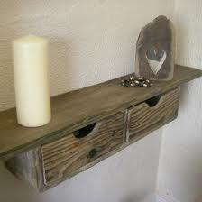 Wandplank - schoorsteenmantel van oud steigerhout.