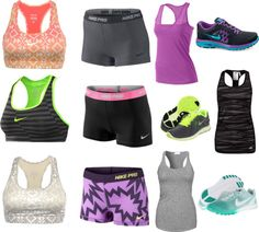 """""""running outfits for summer"""" by cowgirrrl-up on Polyvore"""
