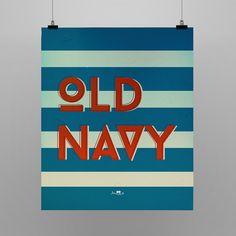 Poster Old Navy. Confira esse e outros modelos disponíveis na loja http://locomattive.com.br