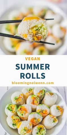Vegan Rice Paper Summer Rolls are delicious, fresh and easy to make. If you're l… Vegan Rice Paper Summer Rolls are delicious, fresh and easy to make. If you're looking for a healthy and easy vegan recipe for summer, you will love these spring rolls! Vegan Foods, Vegan Snacks, Vegan Dinners, Healthy Snacks, Healthy Recipes, Healthy Rice, Vegan Recipes For Lunch, Gluten Free Lunch Ideas, Healthy Vegan Recipes