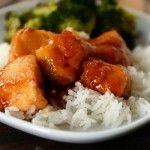 """Bourbon Chicken - Sauce is banging! Nothing like Chinese food bourbon chicken but nommy nonetheless. I prefer to kick it up the red chili flakes a notch or two. Try with veggie and whole wheat pasta for a """"lo men"""" feel!"""