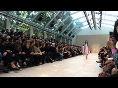 The Burberry Prorsum Womenswear S/S14 Show Highlights - shot with the iP... HArry is shown in this video twice