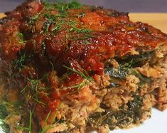 Spicy Meatloaf with Collard Greens