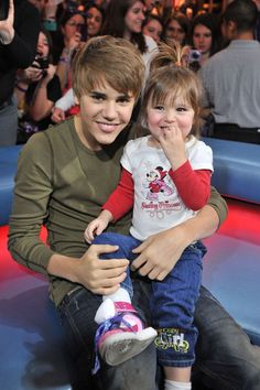 Justin Bieber and his little sister