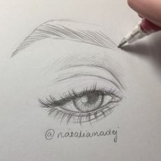 Like thousand times 126 comments Natalia Madej (Natalia Madej Chrzanowsk Drawing Techniques, Drawing Tips, Drawing Sketches, Drawing Ideas, Realistic Eye Drawing, Eye Sketch, Simple Pictures, Easy Pictures To Draw, Visual Memory