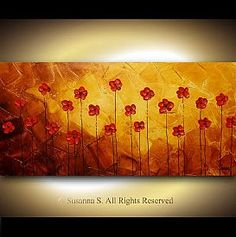 Original Daisy Flower Paintings, Modern Abstract Paintings of Daisies