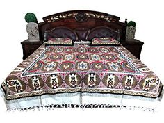 Home Furniture - Garden Supplies - Enhance your bedroom by adding this Indian bedding set with matching pillow covers comes from India. Bed Throws, Bed Pillows, Garden Furniture, Home Furniture, Bed Covers, Pillow Covers, Indian Bedding, Bohemian Bedspread, Cotton Bedding