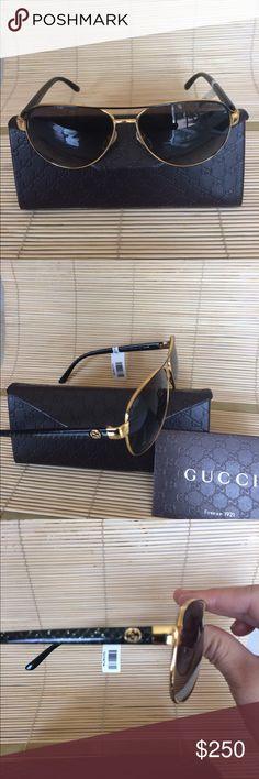 Gucci women aviator sunglasses gold frame $450 New gucci Accessories Glasses
