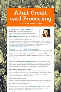 without Account processing card merchant adult credit
