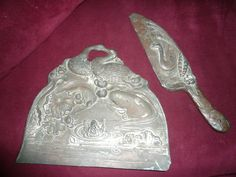 Art Nouveau crumb duster with Frogs Lilies & Swans by LAMOREBOHEME, $12.00