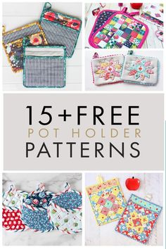 Make one of these free pot holder patterns! Pot holders are an easy project perfect for the beginner sewer in mind. Go see the list! Small Sewing Projects, Sewing Projects For Beginners, Sewing Hacks, Sewing Tutorials, Sewing Crafts, Sewing Tips, Dress Tutorials, Easy Projects, Sewing Ideas