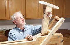 Hybrid Shaving Horse - The Woodworker's Shop - American Woodworker Woodworking Carving Ideas, Woodworking Horse, Green Woodworking, Wood Carving Tools, Woodworking Furniture Plans, Woodworking Joints, Wood Tools, Woodworking Workbench, Popular Woodworking
