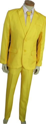 SMALL-Mens-Yellow-Pimp-Suit-Costume-Party-Outfit-Stand-Out-Fancy-Suit-Fashion