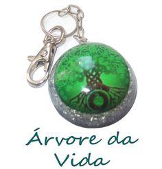 Chaveiro - Carbono Extra - Luna Orgonites