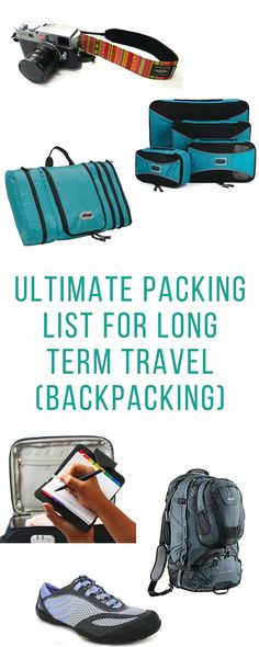 """You're going backpacking for months, how do you decide what to leave and what to take? Long term travel is all about packing light but making sure you have all the essentials to make travel as easy as possible.  This packing guide is focused for couples travel but the information is pretty universal for solo travellers too.  Why is our packing list the best? The answer is, there is no """"best"""" packing list. The best way to pack is to read a few and decide what items are best for you."""