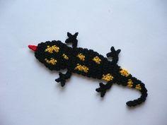 Salamander - Häkelapplikation Salamander, Applique, Etsy, Knitting, Animals, Amigurumi, Homemade, Tutorials, Animales