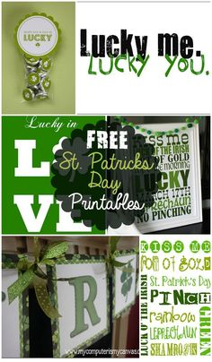 FREE St. Patrick's Day Printables on { lilluna.com }!! A collection of fun Irish prints!!