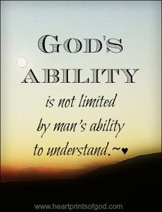 Heartprints of God.  I thank God my such limited understanding does not limit Him in the least!!!!!!