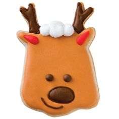 Reindeer Game Cookie - Fun and festive holiday shapes make cute cookies kids and adults love to leave for Santa!