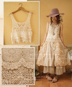 Wow! Though this dress has many layers, its light fabric looks like it would keep it cool still. Of course, a nice sunhat is a summer plus! Very beautiful.