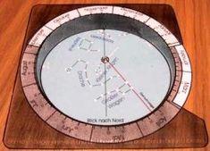Bastelbogen Polarsternkarte und Sternuhr