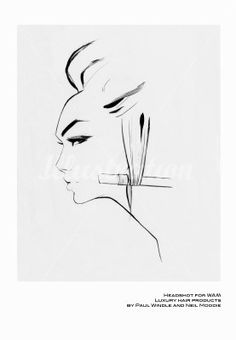 Hair style illustration by Nuno DaCosta
