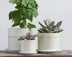 Cache pot en porcelaine ovale grand  Collection par taylorceramics