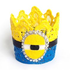 CUSTOM  Minion Inspired Birthday Crown  by JustCallMeJenny on Etsy