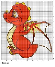 Вышивка схемы дракоши