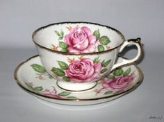 Adderley Pink Rose china