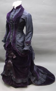 purple silk taffeta and velvet gown from about 1880. Shippensburg University…