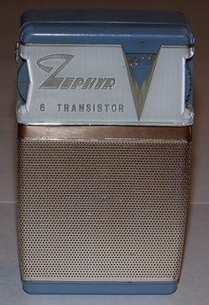 Vintage Zephyr 6-Transistor Radio, Model ZR-620, Made in Ryukyu, Reverse Paint.