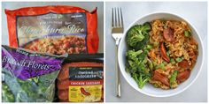 Combine Smoked Andouille Chicken Sausage, Chimichurri Rice, and broccoli. 33 Delicious Recipes That You Need For Your Next Trip To Trader Joe's Trader Joes Chicken Sausage, Chicken Sausage Recipes, Cooking Recipes, Healthy Recipes, Delicious Recipes, Easy Cooking, Healthy Foods, Easy Recipes, Cooking Rice