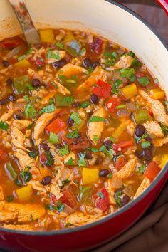 Chicken Fajita and Rice Soup | Cooking Classy