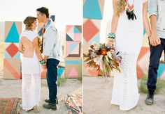 Southwestern/Art Deco wedding inspiration | Real Weddings and Parties | 100 Layer Cake