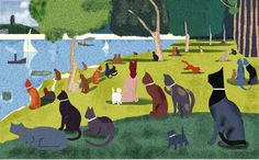 Art Parody of A Sunday Afternoon on the Island of La Grande Jatte painted in 1884, one of Georges Seurat's most famous works, and is an example of pointillism.