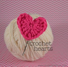 A Couple More Hours: Tutorial: crochet heart pins