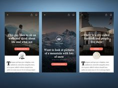 News App - Article Landing Screens designed by James Richman. Web Story, News Apps, Screen Design, Photo Story, Rich Man, Mobile Design, Mobile Ui, News Articles, Screens