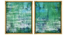 Abstract Greens and Blues | One Kings Lane